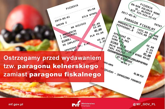 Rachunek kelnerski to nie paragon fiskalny