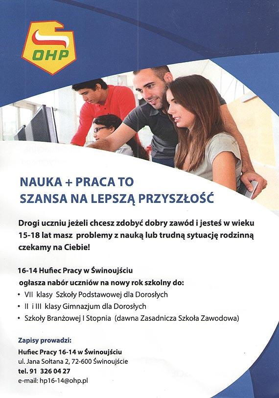 Rekrutacja do HP Świnoujście na rok szkolny 2017/2018