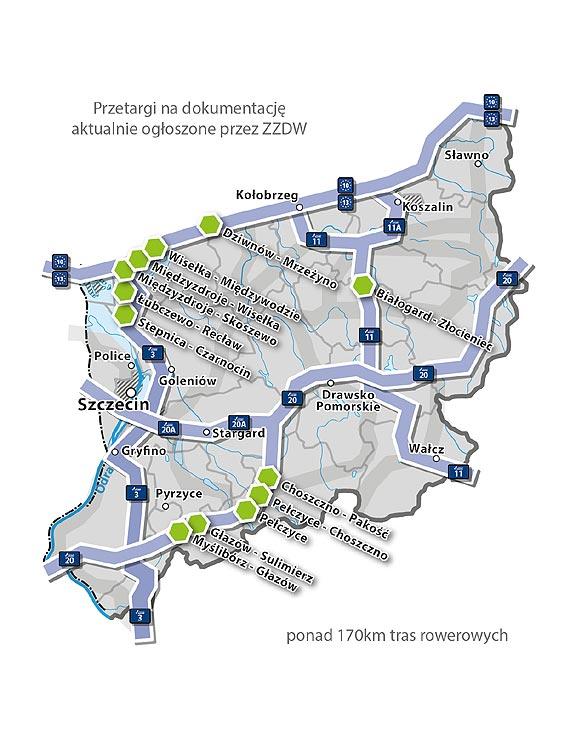 Ponad 170 km tras rowerowych czeka na zaprojektowanie