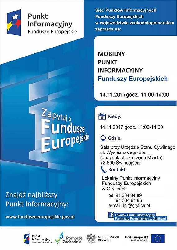 Warto przyjść i skorzystać z usług Mobilnego Punktu Informacyjnego Funduszy Europejskich