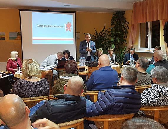 Zebranie mieszkańców osiedla Warszów. Głównym tematem były inwestycje