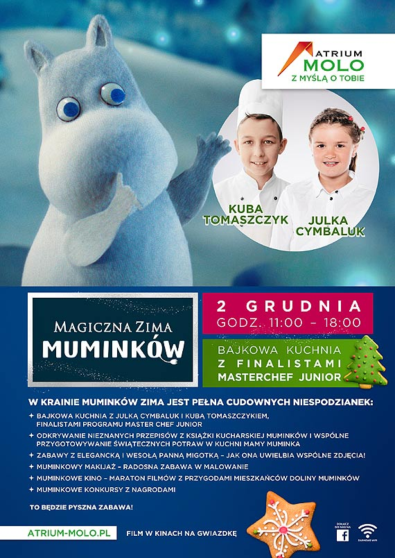 Atrium Molo - Bajkowa Kuchnia Muminków z gwiazdami MasterChef Junior