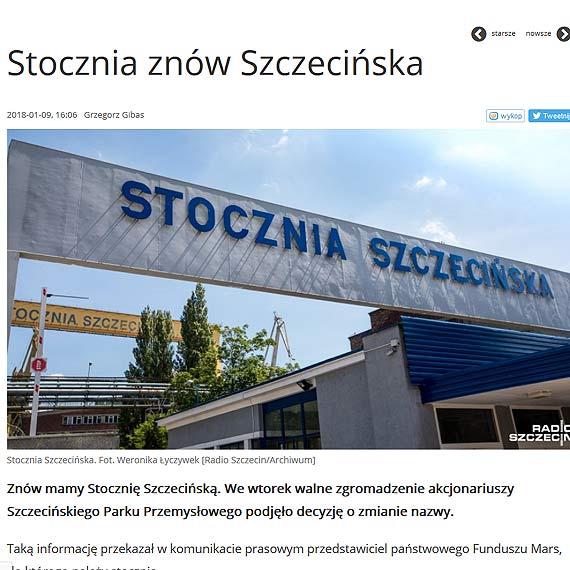 Stocznia znów Szczecińska