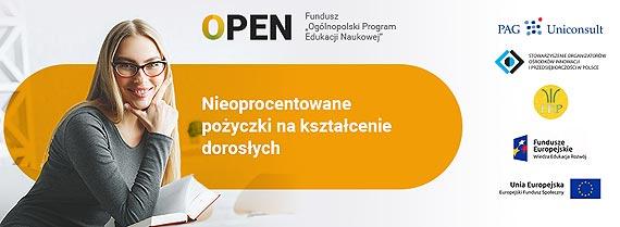 Projekt OPEN – nieoprocentowane pożyczki na kształcenie
