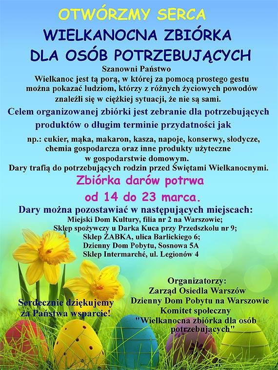 Wielkanocna zbiórka dla osób potrzebujących