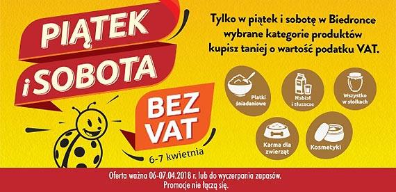 Promocje w sklepach Biedronki: bez VAT i w kropki