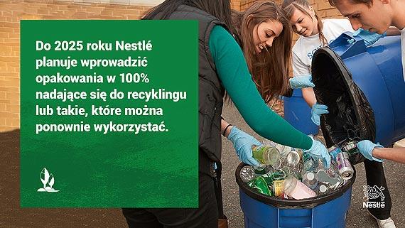 Nestlé chce wprowadzić opakowania w 100% nadające się do recyklingu