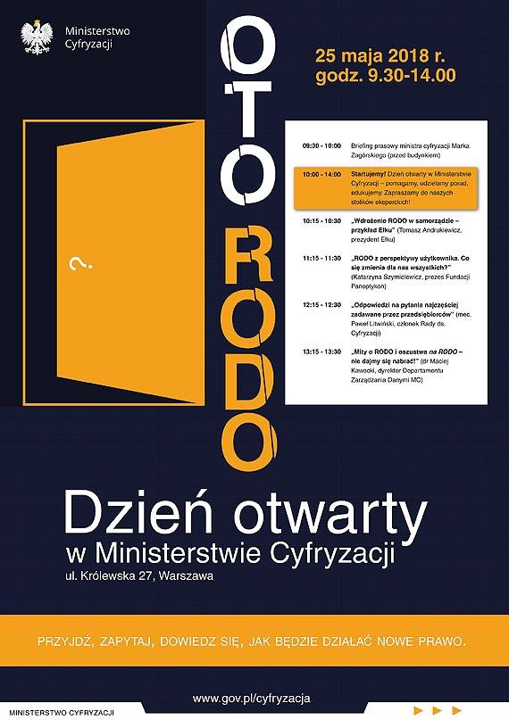 Oto RODO - dzień otwarty w Ministerstwie Cyfryzacji