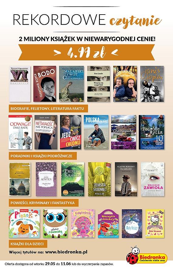 Rekordowe czytanie w Biedronce – 2miliony książek w niewiarygodnej cenie