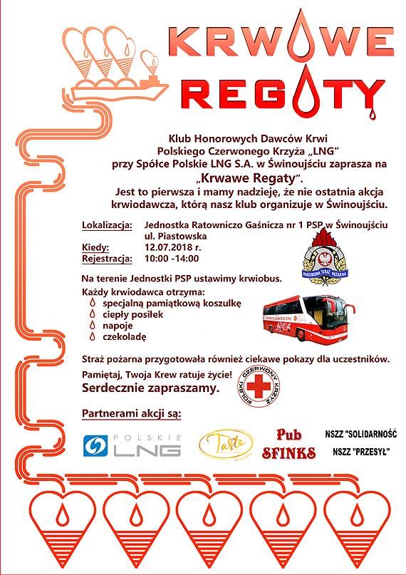Akcja Krwiodawstwa w Świnoujściu 12.07.2018 r. - jutro!