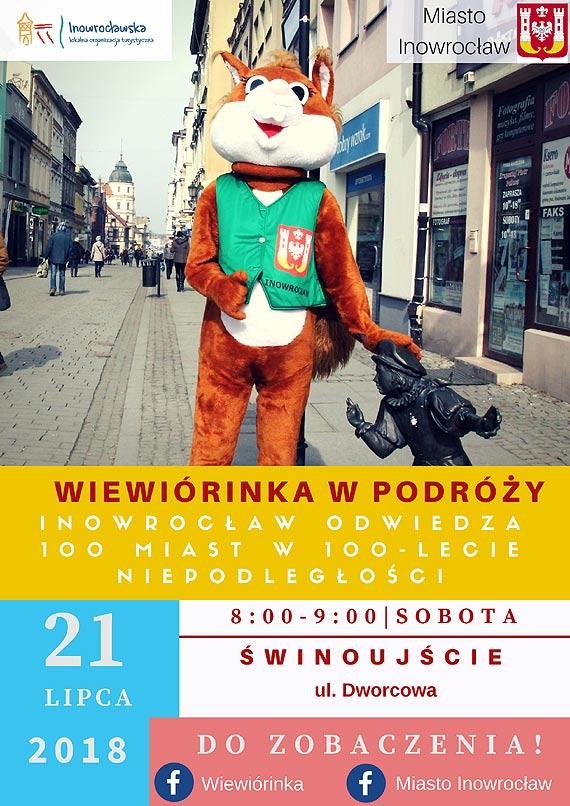 WiewiórINKA podróżuje po Polsce i promuje Inowrocław