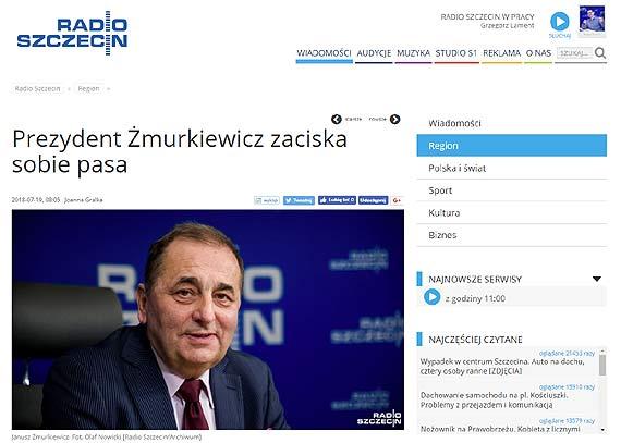 Prezydent Żmurkiewicz zaciska sobie pasa