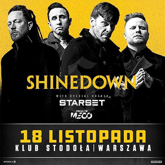 SHINEDOWN 18.11.2018 Klub Stodoła, Warszawa