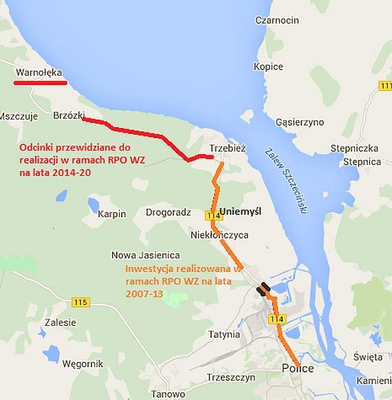 Ponad 11 km drogi wojewódzkiej nr 114 do przebudowy. - przekazanie placu budowy