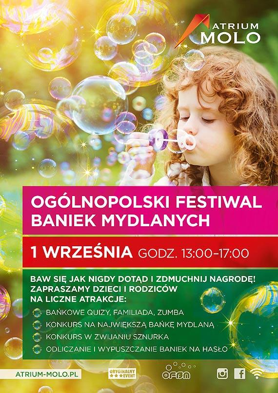 Ogólnopolski Festiwal Baniek Mydlanych w Atrium Molo