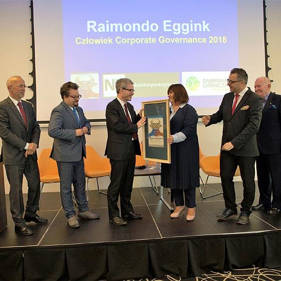 Raimondo Eggink Człowiekiem Corporate Governance 2018