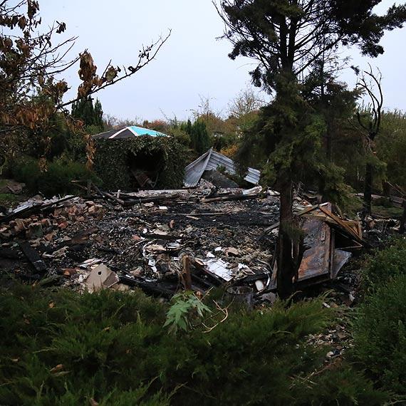 Na działkach spłonęła altana