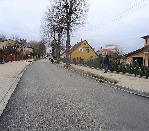 Ulica Gdańska. Już tylko oznakowanie