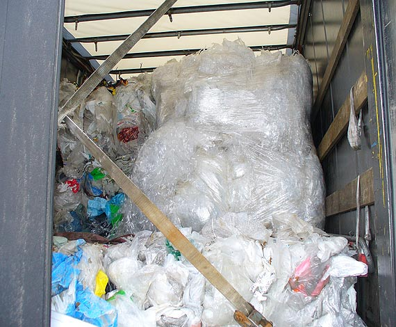 Prawie 47 ton odpadów z Niemiec zatrzymane na granicy