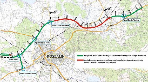 Ogłoszono przetarg na dokumentację dla sekcji 2 obwodnicy Koszalina i Sianowa