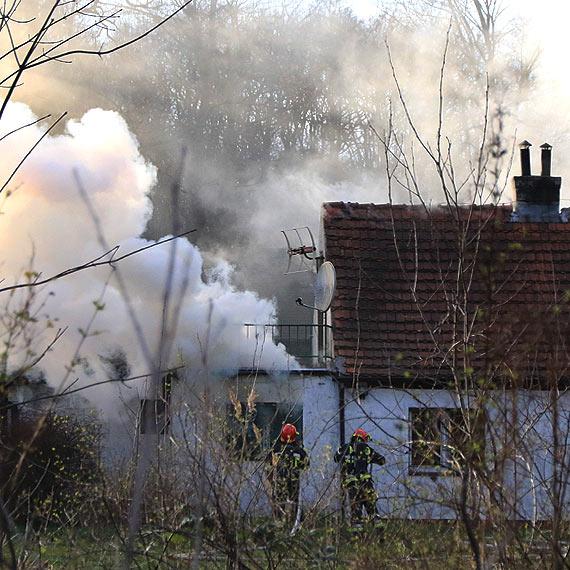 Palił się dom przy Jachtowej