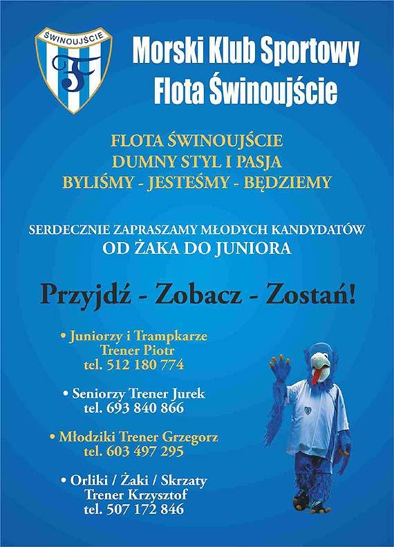Zaproszenie na mecz ligowy: Flota Świnoujście - Zorza Dobrzany