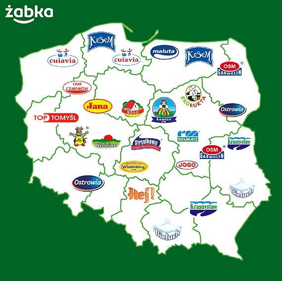 Polskie spółdzielnie mleczarskie z dostawami do Żabki