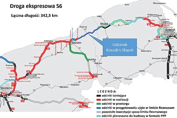 Ogłosiliśmy przetarg na projekty budowlane dla S6 od Koszalina do Słupska