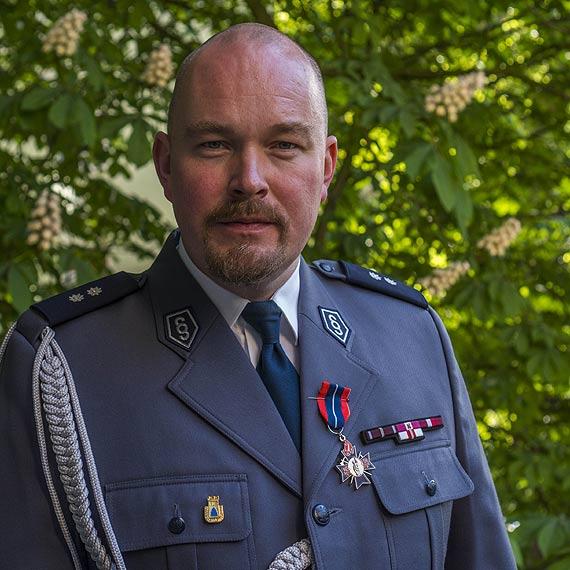 Szczeciński policjant od zabytków odznaczony Zachodniopomorskim Krzyżem św. Floriana