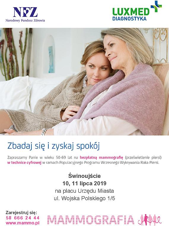 Bezpłatne badania mammograficzne dla kobiet w lipcu