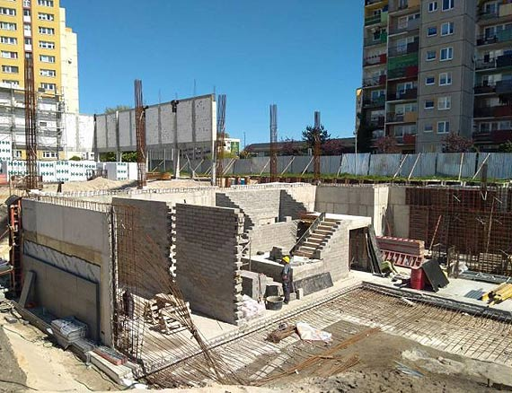 Coraz więcej ścian na rozbudowie CEZiT