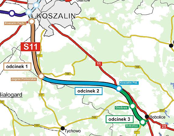 Znamy oferty dla realizacji S11 Koszalin – Bobolice