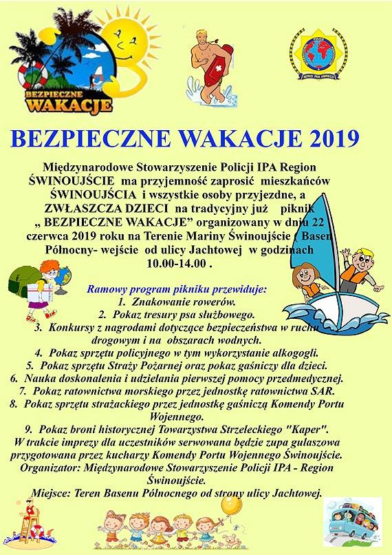 Bezpieczne wakacje 2019