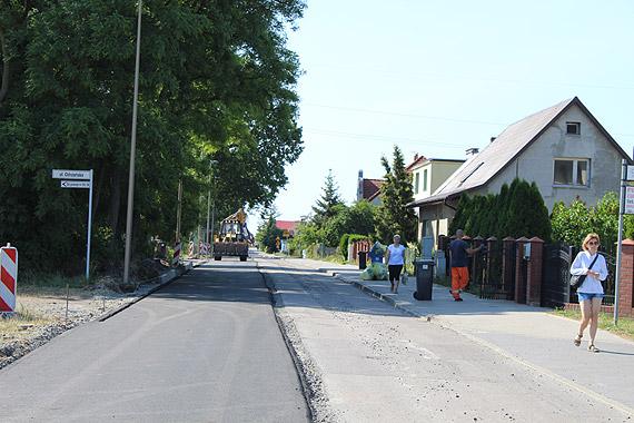 Nowy asfalt na ul. Odrzańskiej