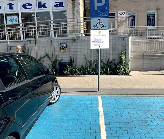 Instrukcja korzystania z parkingu P2 dla osób niepełnosprawnych
