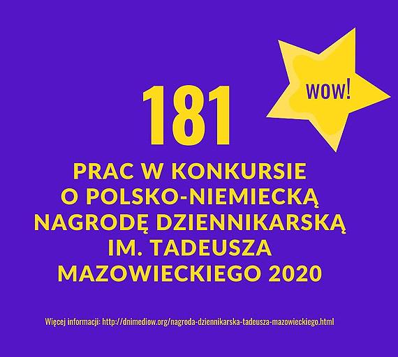 181 prac zgłoszono łącznie do Polsko-Niemieckiej Nagrody Dziennikarskiej 2020 – Wysokość nagrody w każdej kategorii to 5.000 euro
