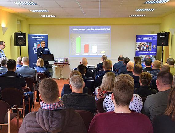 Odprawa roczna podsumowującą pracę Komendy Miejskiej Policji w Świnoujściu w 2019 roku