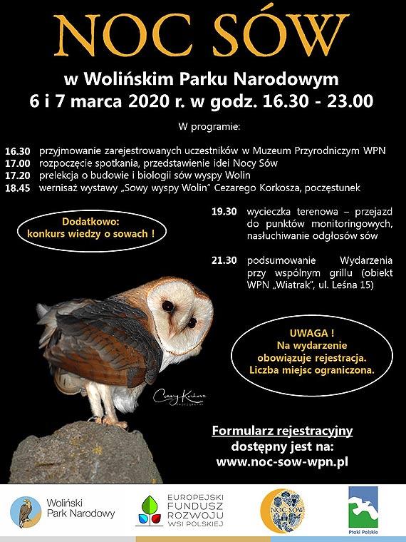 Rejestracja uczestników na NOC SÓW 2020 w Wolińskim Parku Narodowym