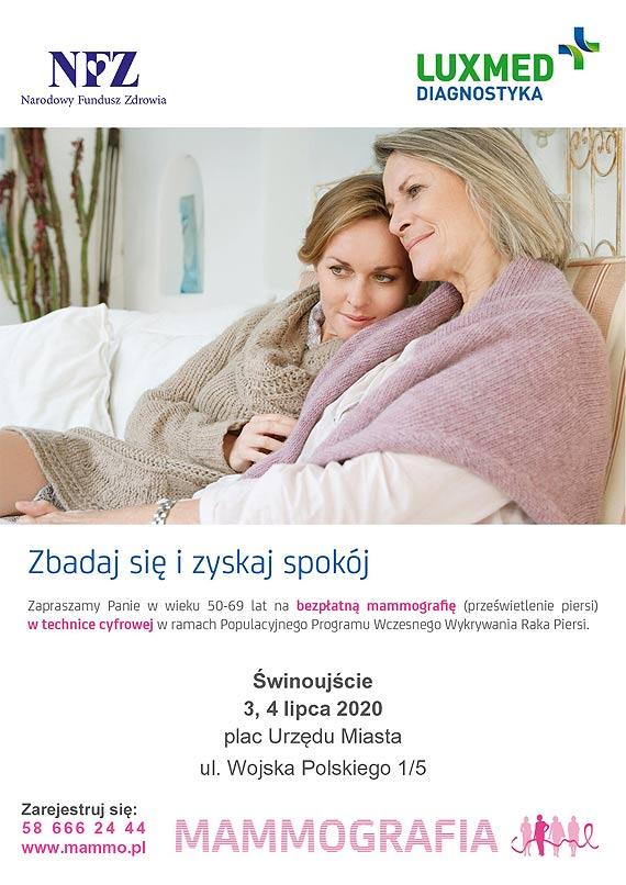 Wznowienie bezpłatnych badań mammograficznych przez LUX MED - Świnoujście