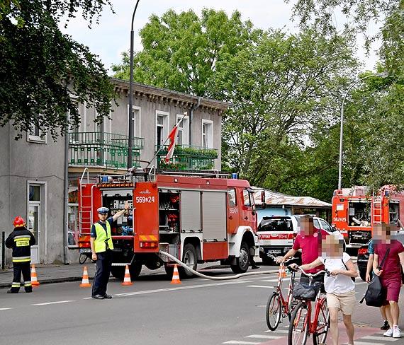 Pożar budynku na Warszowie
