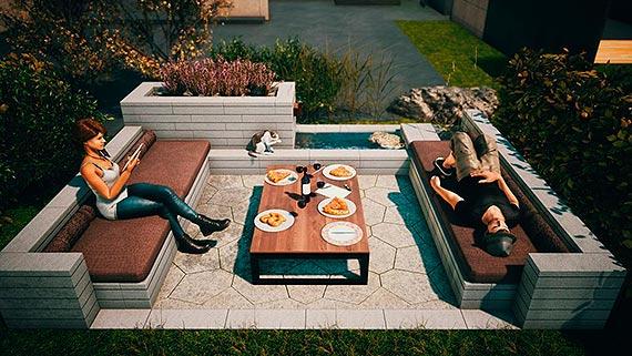 Meble ogrodowe z betonowych prefabrykatów.  Niesztampowe pomysły na strefę relaksu w ogrodzie